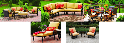 Better homes and gardens replacement cushions walmart for Better homes and gardens englewood heights chaise lounge