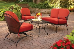 High Quality Better Homes And Gardens Clayton Court 4 Piece Patio Conversation Set Replacement  Cushions