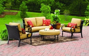 Better Homes And Gardens Englewood Heights 4 Piece Patio Conversation Set  Replacement Cushions