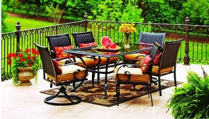 Beautiful Better Homes And Gardens Englewood Heights 7 Piece Patio Dining Set Replacement  Cushions