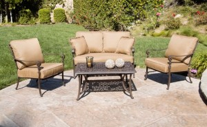 High Quality Better Homes And Gardens Lake In The Woods 4 Piece Patio Conversation Set  Replacement Cushions