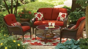 Delightful Better Homes And Gardens Lake Island 4 Piece Conversation Set Replacement  Cushions