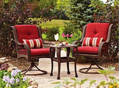 Marvelous Better Homes And Gardens Lake Merritt 3 Piece Bistro Set Replacement  Cushions