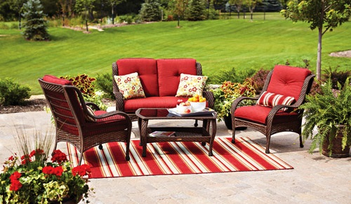 Better Homes And Gardens Lake Merritt 4 Piece Outdoor Conversation Set Replacement  Cushions