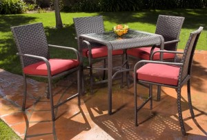 Hometrends Rushreed 5-Piece Patio Dining Set Replacement Cushions