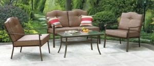 Mainstays Brookwood Landing 4 Piece Patio Conversation Set Replacement  Cushions