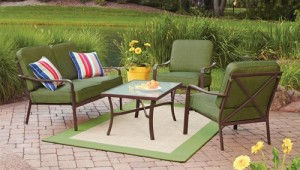 Mainstays Crossman 4-Piece Patio Conversation Set Replacement Cushions