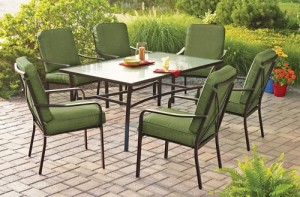 Mainstays Crossman 7-Piece Patio Dining Set Replacement Cushions