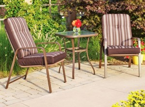 Mainstays Lawson Ridge 3-Piece Outdoor Bistro Set Replacement Cushions