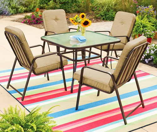 Mainstays Lawson Ridge 5 Piece Patio Dining Set Replacement Cushions