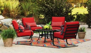 Mainstays Pyros 5 Piece Patio Conversation Set Replacement Cushions