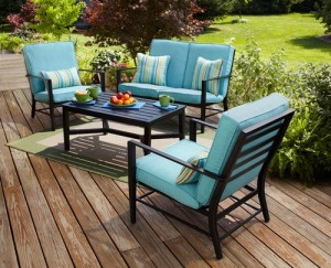 Marvelous Mainstays Rockview 4 Piece Patio Set Replacement Cushions