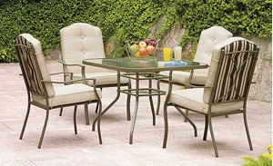 Mainstays Warner Heights 5-Piece Patio Dining Set Replacement Cushions